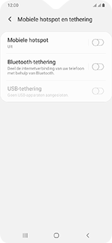 Samsung galaxy-a20e-dual-sim-sm-a202f - WiFi - Mobiele hotspot instellen - Stap 6