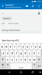HTC One M9 - E-mail - Sending emails - Step 9