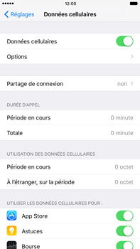 Apple Apple iPhone 6s Plus iOS 10 - Internet - activer ou désactiver - Étape 4