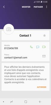 Samsung Galaxy S9 - Contact, Appels, SMS/MMS - Ajouter un contact - Étape 12