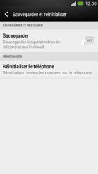 HTC One - Aller plus loin - Restaurer les paramètres d'usines - Étape 5