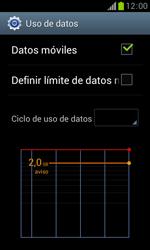 Samsung S7560 Galaxy Trend - Internet - Ver uso de datos - Paso 8