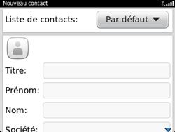 BlackBerry 9320 - Contact, Appels, SMS/MMS - Ajouter un contact - Étape 5