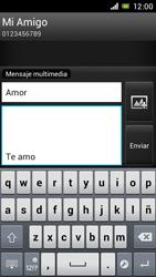 Sony Xperia J - Mensajería - Escribir y enviar un mensaje multimedia - Paso 13