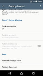 Sony Xperia X - Android Nougat - Device maintenance - Create a backup of your data - Step 5