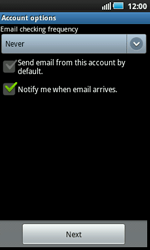 Samsung I5800 Galaxy Apollo - E-mail - Manual configuration - Step 10