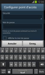 Samsung Galaxy S3 Mini - Internet et connexion - Partager votre connexion en Wi-Fi - Étape 9