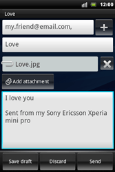 Sony Ericsson Xperia Mini Pro - Email - Sending an email message - Step 10