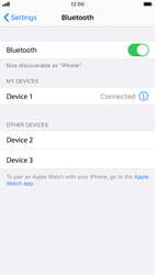 Apple iPhone 7 - iOS 13 - Bluetooth - Pair with another device - Step 6