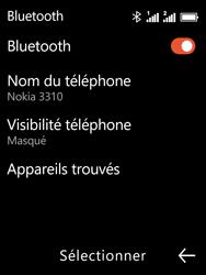 Nokia 3310 - Internet et connexion - Connexion avec un équipement multimédia via Bluetooth - Étape 8