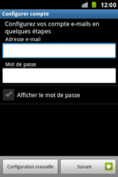 Samsung S7500 Galaxy Ace Plus - E-mail - Configuration manuelle - Étape 5