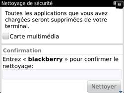 BlackBerry 9720 - Aller plus loin - Restaurer les paramètres d'usines - Étape 7
