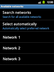 Samsung S5360 Galaxy Y - Network - Usage across the border - Step 8