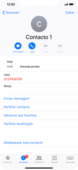 Apple iPhone XR - Chamadas - Como bloquear chamadas de um número -  7