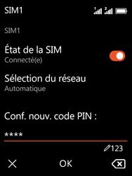 Nokia 3310 - Sécuriser votre mobile - Personnaliser le code PIN de votre carte SIM - Étape 13