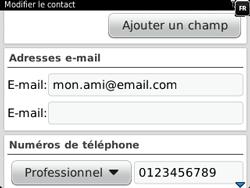 BlackBerry 9320 - Contact, Appels, SMS/MMS - Ajouter un contact - Étape 12