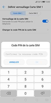 Huawei P Smart - Sécuriser votre mobile - Personnaliser le code PIN de votre carte SIM - Étape 12