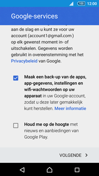 Sony Xperia Z5 Premium (E6853) - Applicaties - Account instellen - Stap 16