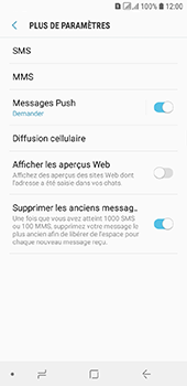 Samsung Galaxy A6 - SMS - configuration manuelle - Étape 7