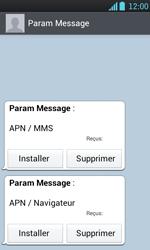LG P700 Optimus L7 - Paramètres - Reçus par SMS - Étape 5