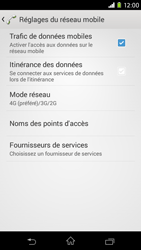 Sony Xpéria M2 - Internet et connexion - Activer la 4G - Étape 8