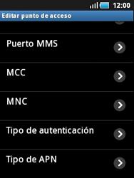 Samsung S5570 Galaxy Mini - Internet - Configurar Internet - Paso 11