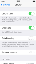 Apple iPhone 5s - Internet - Enable or disable - Step 4