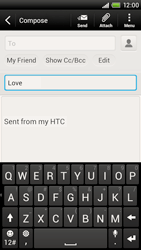 HTC S728e One X Plus - E-mail - Sending emails - Step 8