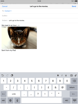 Apple iPad Pro (9.7) - Email - Sending an email message - Step 12