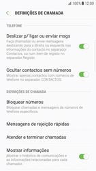 Samsung Galaxy S6 Edge - Android Nougat - Chamadas - Como bloquear chamadas de um número -  6