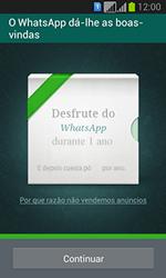 Samsung Galaxy Fresh Duos - Aplicações - Como configurar o WhatsApp -  10