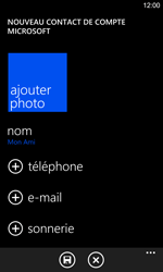 Nokia Lumia 925 - Contact, Appels, SMS/MMS - Ajouter un contact - Étape 7