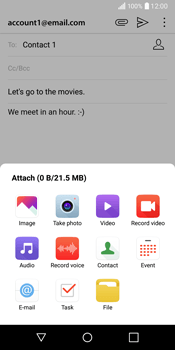 LG Q6 - Email - Sending an email message - Step 12