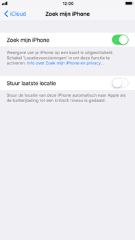 Apple iPhone 7 Plus iOS 11 - Beveiliging en privacy - Zoek mijn iPhone activeren - Stap 7