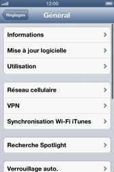 Apple iPhone 4 - iOS 6 - MMS - configuration manuelle - Étape 5