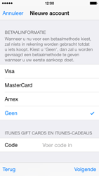 Apple iPhone 5 (iOS 8) - apps - account instellen - stap 19