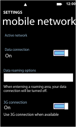 Nokia Lumia 800 - Internet - Enable or disable - Step 5