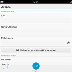 BlackBerry Passport - Mms - Configuration manuelle - Étape 8