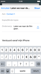 Apple iPhone 5 met iOS 9 (Model A1429) - E-mail - Hoe te versturen - Stap 7