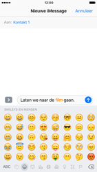 Apple iPhone 6s iOS 10 - iOS features - Stuur een iMessage - Stap 13