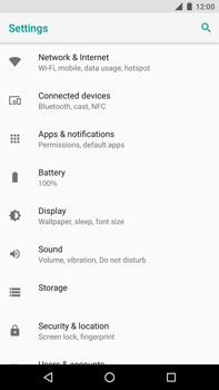 Huawei Nexus 6P - Android Oreo - Internet - Disable mobile data - Step 4