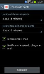Samsung Galaxy Fresh Duos - Email - Configurar a conta de Email -  16