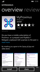 Nokia Lumia 830 - Applications - MyProximus - Step 8