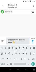 Alcatel 1X - Contact, Appels, SMS/MMS - Envoyer un SMS - Étape 9