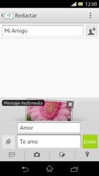 Sony Xperia L - Mensajería - Escribir y enviar un mensaje multimedia - Paso 16