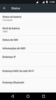 Motorola Moto Z2 Play - Primeiros passos - Como encontrar o número de IMEI do seu aparelho - Etapa 5