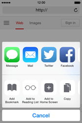 Apple iPhone 4s iOS 8 - Internet - Internet browsing - Step 5