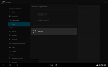 Sony SGP321 Xperia Tablet Z LTE - Network - Usage across the border - Step 7