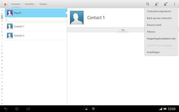 Sony SGP321 Xperia Tablet Z LTE - Contacten en data - Contacten overzetten via Bluetooth - Stap 5