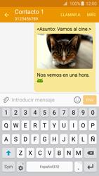Samsung Galaxy A3 (2016) - Mensajería - Escribir y enviar un mensaje multimedia - Paso 25